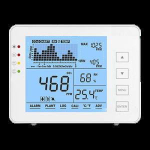 Medidor CO2, temperatura y humedad. Rango medida de CO2 0~5000 ppm