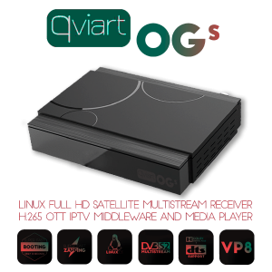 Receptor Sat DVB-S2 Linux IPTV, H.265, Wifi USB opcional