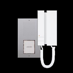 Kit de audio unifamiliar, con posibilidad de 1 o 2 pulsadores. Para empotrar o superficie, 2 hilos. Nueva placa Ciao y telefoni