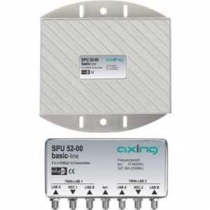 Conmutador DiSEqC 4 entradas + 1 entrada UHF y 2 salidas