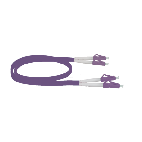 Latiguillo LC/PC - LC/PC, Multimodo, Duplex, 50/125, OM4, 1.6mm, LSZH-FR, 10mts. Violeta