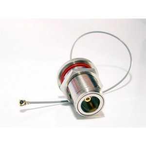 Pigtail alargador con conector MMCX a N hembra 40 cm.