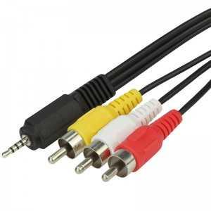 Cable 1,5 mts x1 conector jack macho y 3x RCA macho