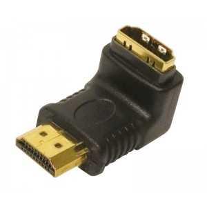 Adaptador HDMI Macho a HDMI Hembra acodado