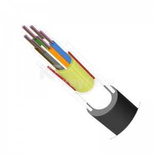 Cable 48F G652D, monomodo, holgada, 4Tx12F, para exterior (PE negro), diámetro exterior 8.5mm. 50Kg/km. 1200N Bobina 2000mts