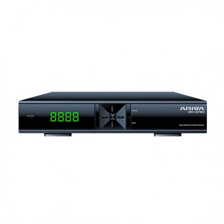 Receptor SAT (S2)+TDT (T2)+ Cable, FULL HD, H.265, 1 Lector tarjetas, 1 CI+, Wifi USB opcional