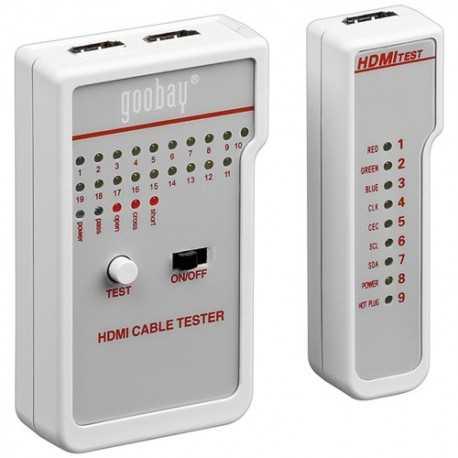 Comprobador de instalaciones HDMI (no amplificadas) mediante 19 leds en una línea y 34 en total que nos dan una completa inform