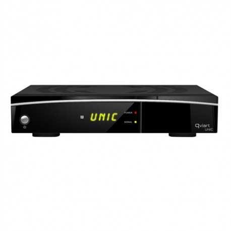 Receptor TV Satélite HD con procesador DUAL CORE y WIFI integrado. Compatible con IPTV, con 1 lector de tarjetas y 1 puerto USB