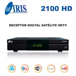 Iris 2100 HD SAT (S2), FULL HD, H.265, Wifi integrado