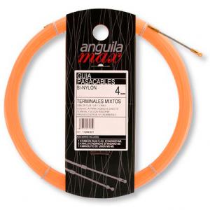 Guía pasa cables 12 metros y 4mm. Nylon. Color salmón