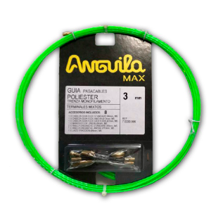Guía pasa cables 6 metros y 3mm. Poliéster trenzado monofilamento. Color verde