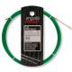 Guía pasa cables 12 metros y 3mm. Fibra de Vidrio + Nylon (reforzada). Color verde