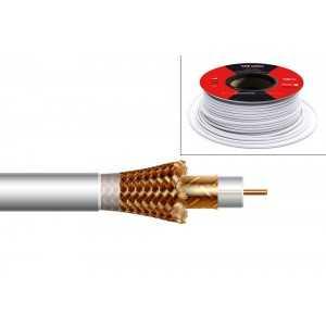 Cable coaxial de 6,7mm, 18.2dB a 862Mhz, 30.4dB a 2150Mhz, lámina Cu/Al y malla CCA. PVC, 100mts