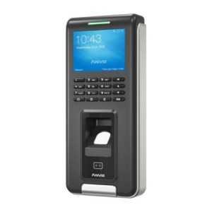 Lector biométrico autónomo con lector de proximidad EM y teclado.
