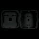 Caja de conexiones para cámaras domo - Plástico - 145 mm (diámetro base). Negro