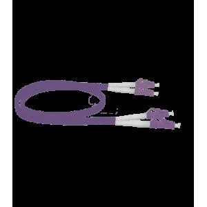 Latiguillo LC/PC - LC/PC, Multimodo, Duplex, 50/125, OM4, 3mm, LSZH-FR, 10mts. Violeta