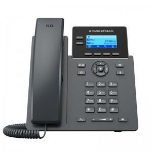 Teléfono IP WIFI AC de 2 líneas, 2 cuentas SIP, x4 teclas XML programables, 132 x 48 (2.21 ) LCD display