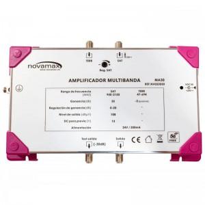 Central multibanda 5G, 2E UHF-SAT y una salida, 35dB, 108dBnV