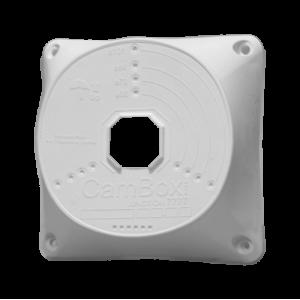 Caja de conexiones para cámaras domo - Plástico - 128 mm (diámetro base). Blanco