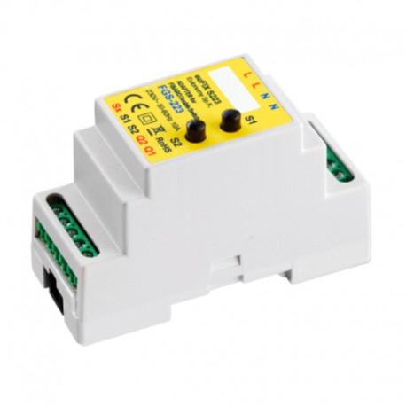 Adaptador carril DIN con botón para FIBARO Double Switch 2 FGS-223