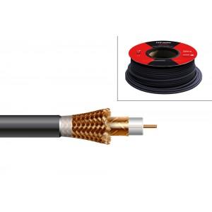 Cable coaxial conductor interno 1.13mm Cu, diametro exterior 6,8mm, lámina de cobre, malla de CCA, 17.4 / 29.1dB 860/2150 MHz,