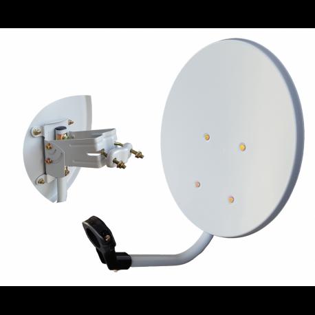 Antena parabolica offset 40cms (39x35.5cm). Acero
