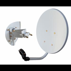 Antena parabólica de 38,5x35cms, 32,8dB, acero galvanizada.