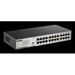 Switch de 24 puertos Gigabit, Carcasa de metal. Con accesorios para rack