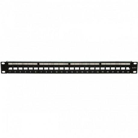 "Patch panel para rack de 19"", x24 puertos vacío FTP"