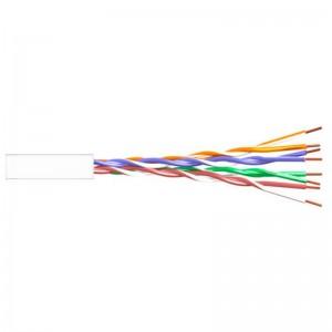Cable CAT5e UTP, Cobre, CPR-ECA, PE UV (exterior), blanco. Bobina de 305mts