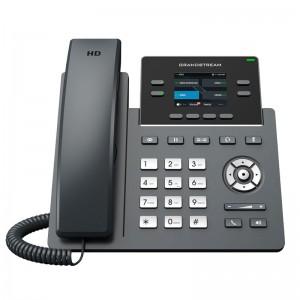 """Teléfono IP WIFI AC de 2 líneas, 2 cuentas SIP, x4 teclas XML programables, LCD de color 2.4"""""""