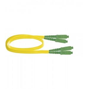 Latiguillo DX SC/APC-SC/APC, 1,9mm LSZH-FR amarilla 5mts