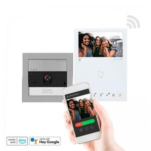 Video portero color, tecnología 2 Hilos. Nueva placa Mod. Ultra + monitor Mini Hands Free, con Wifi.