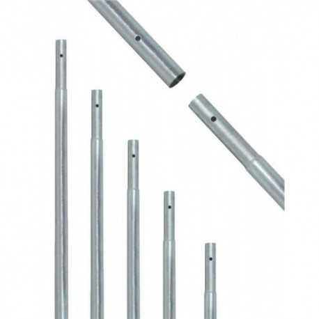 Mástil de hierrro galvanizado enchufable 2000x40x1,5
