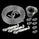 Kit montaje vientos para mástil 45mm (3 tensores/6 sujeta cables/25mts cable acero 2mm)