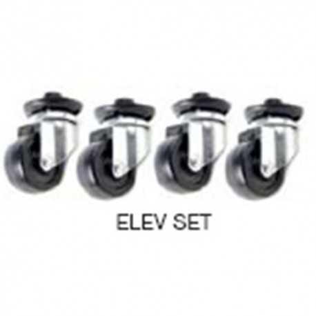 Kit de elevación (4 pies + 4 ruedas) para Racks