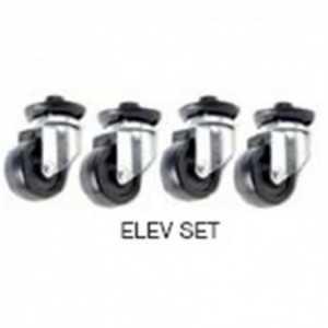 ELEV SET. Kit de elevación (4 pies + 4 ruedas).