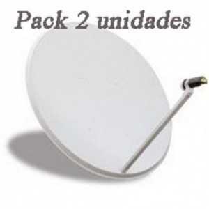 Antena parabólica para TV satélite, 110x100cms, 41,7dB, acero, Precio pack 2 unidades.