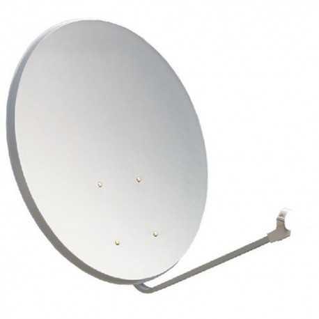 Antena parabólica para TV satélite, 120x110cms, 42,2dB, acero, embalaje individual. Tecatel