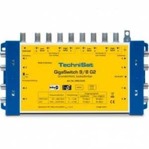 Multiswitch 9x8. Ganancia FI entre -2/+3 dB. Salida máxima 70 a 85 dBuV. Ganancia terrestre -3 / -1 dB, salida de 70 a 80 dBuV