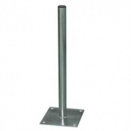Soporte de suelo para antenas de hasta 110cms. Diámetro 50mm. Grosor 2mm.