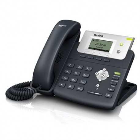 Teléfono IP de 2 cuenta SIP, Pantalla LCD de 132 x 64 pixeles, manos libres y posibilidad de alimentación por PoE.