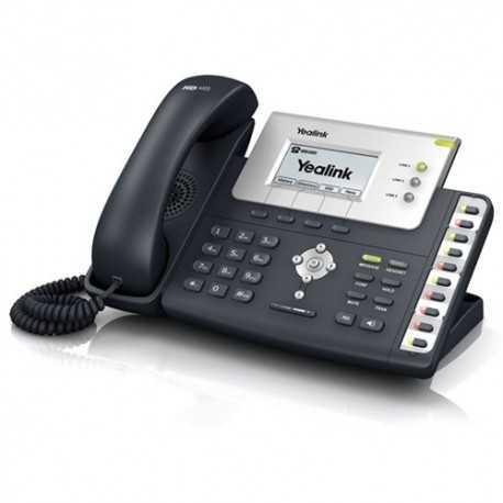 Teléfono IP TI TITAN chipset y TI voiceI. Pantalla LCD de 132x64, 3 cuentas VoIP, validadas por Broadsoft/Avaya/Asterisk. Voz H