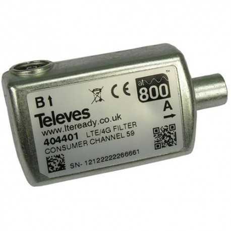 Filtro LTE CEI 470-774MHz UHF (C21-58). Para interior