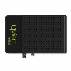 Receptor TV Satélite HD de pequeño tamaño con procesador DUAL CORE y WIFI integrado. Compatible con IPTV, con 1 lector de tarje