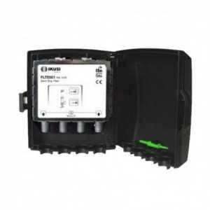 Filtro de rechazo LTE, 45 dB, 2 opciones de corte C58 o C60. Banda de paso 0-782 / 790 MHz, para exteriorl. IKUSI
