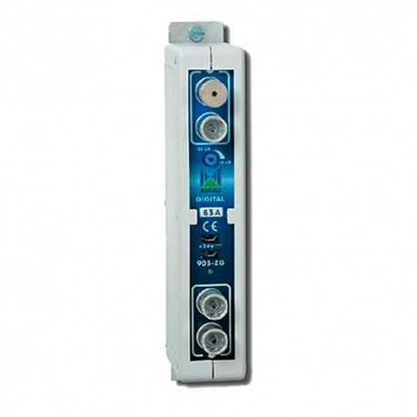 Amplificador Monocanal TDT UHF LTE 470...862MHz, G 50dB. Alcad ZG-421 C25