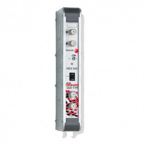 Amplificador mono canal digital en UHF, G53 dB 125 dBuV, 24V. Canal 25