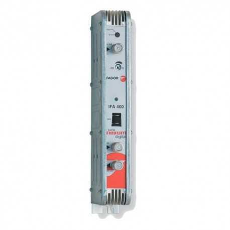 Amplificador ecualizado para 950 - 2150 MHz, G 40...48, 125 dBuV. Fagor IFA 400