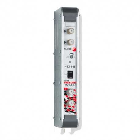 Amplificador mono canal, 53dB, 125 dBuV, 24V. Canal 42
